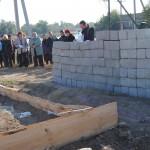 Освящение места под строительство часовни Князя Андрея Боголюбского в селе Савинка Палласовского района