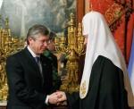 Святейший Патриарх Кирилл и Анатолий Бровко