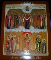 Иконописный храмовый образ Покрова Пресвятой Богородицы