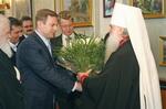 Митрополит Герман и мэр Волгограда Роман Гребенников