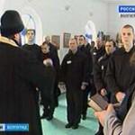 Рождественская служба в ИК-12 г. Волжского