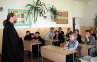 Визит священника в школу