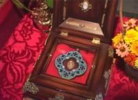 В храм Преподобного Сергия Радонежского прибыла частица ризы Богоматери