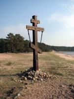 На въезде в село Заплавное установлен поклонный крест