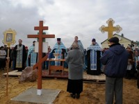 В селе Александровка заложили первый камень в основание будущего храма