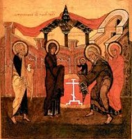 Верующие встречают праздник Сретение Господне