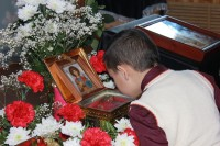 В середине Великого Поста в благочинии Фроловского церковного округа пребывал ковчег с мощами святого великомученика Георгия Победоносца