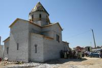 Молебен у строящегося храма