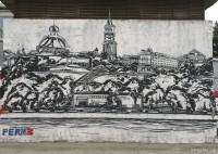 Граффити на ограде храма