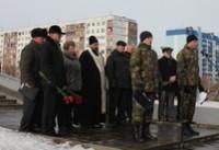 Митинг и лития у памятника войнам-интернационалистам