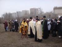Молебен на месте будущего Храма