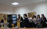 Освящение здания Службы судебных приставов