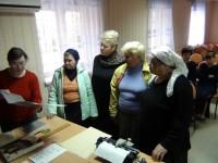 Социальные работники посетили отделение общества слепых