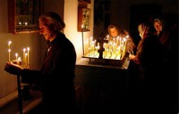 Ночная служба в День памяти и скорби