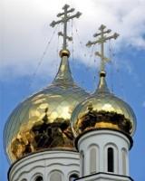 Освящение куполов строящегося храма