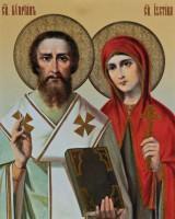 Пребывание мощей мучеников Киприана и Иустиньи