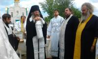 Освящение колокольного креста и купола