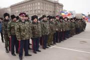 Волгоградские казаки выехали в Крым