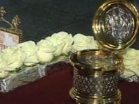 В Казанский собор привезли часть нешвенного Хитона Господня