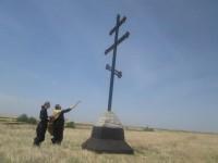 Освящение Поклонного Креста в х. Манойлинский