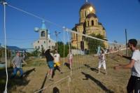 Волейбольный турнир у стен храма