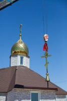 В храме Александра Невского освятили купол звонницы