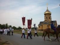 Рабочий поселок Чернышковский встретил икону