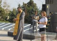 Митинг в память о бомбардировках Сталинграда