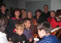 Молебен для беженцев в посёлке Заяр