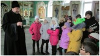 Урок с учениками 4-го класса в храме