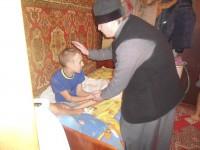 Визит священника к детям-инвалидам