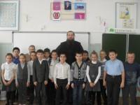 Священник посетил Червлёновскую СОШ