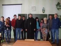 Беседа иерея Игоря Секрета с учащимися