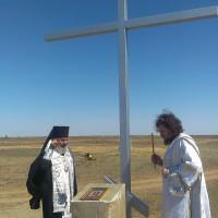 Епископ Иоанн освятил поклонный крест