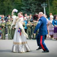 Казаки поздравили Волгоград с Днём города