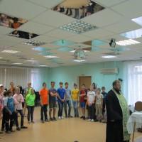 Молебен в детском доме
