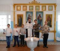 Крещение учащихся школы-интерната