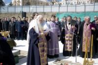 Владыка Иоанн принял участие закладке первого камня
