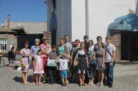Сбор пожертвований и продуктов в храме