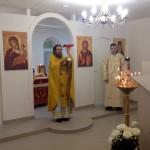 Божественная литургия в новом храме
