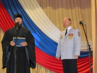 Поздравление полицейских в Чернышковском