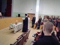 Молебен в камышинской колонии