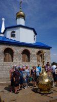 Установка купола с крестом