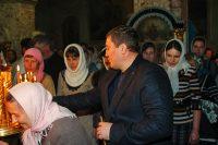 Андрей Бочаров посетил крещенское богослужение