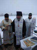 Освящение Крещенской иордани в Волжском