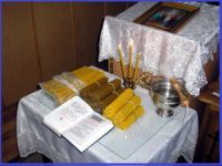 Освящение свечей на Сретение Господне
